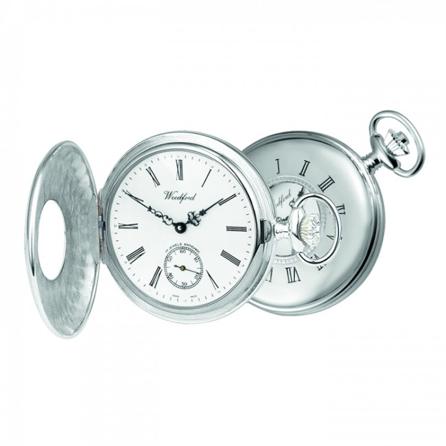 sterling silver patterned swiss unitas movement pocket