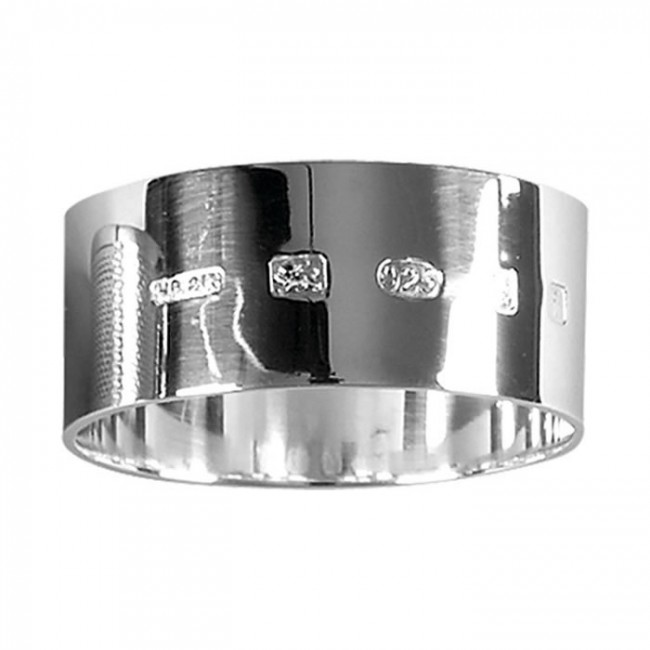 sterling silver one oz simple style napkin ring