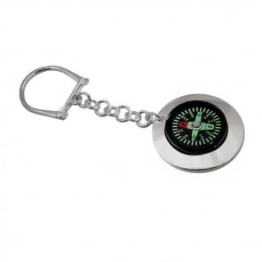 Sterling Silver Compass Keyring