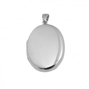 Sterling Silver Oval Shaped Locket