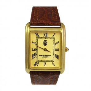 Sterling Silver Gold Plated Mens Watch