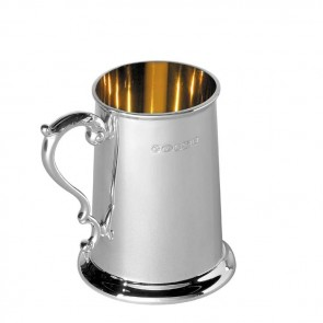 Sterling Silver Babys Tankard With Georgian Handle