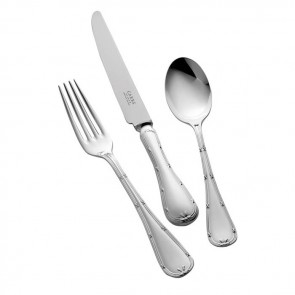 Sterling Silver Childs Cutlery Set English Ribbon And Reed