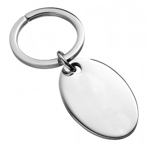 Sterling Silver Oval Keyring With Split Ring