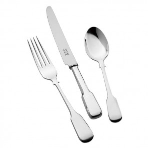 Sterling Silver Childs Cutlery Set Plain Fiddle