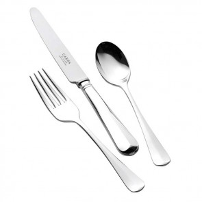 Silver Plated Childs Cutlery Set Rattail