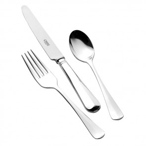 Sterling Silver Babys Rattail Cutlery Set