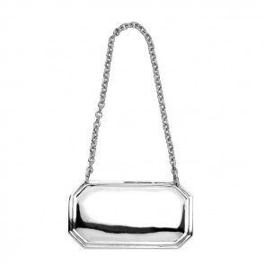 Sterling Silver Decanter Label Plain