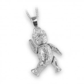 Sterling Silver Simple Movable Teddy Necklace