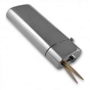 Sterling Silver Plain Styled Toothpick Holder