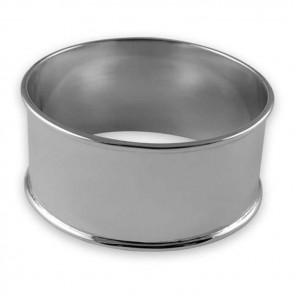Sterling Silver Round Plain Napkin Ring
