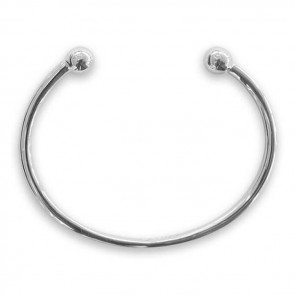 Sterling Silver Simple Torque Bangle