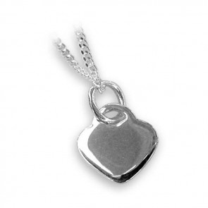 Sterling Silver Plain Heart Necklace