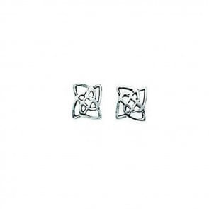 Sterling Silver Celtic Square Stud Earrings