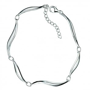 Sterling Silver Linked Leaves Bracelet