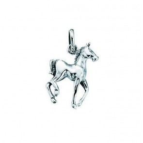 Sterling Silver Prancing Horse Pendant