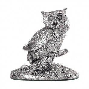 Sterling Silver Owl Sculpture