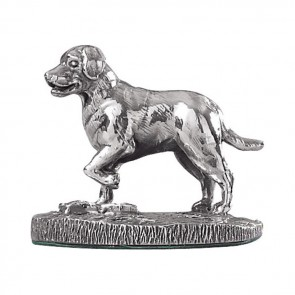 Sterling Silver Labrador Shaped Sculpture