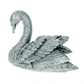 Sterling Silver Small Swan Sculpture