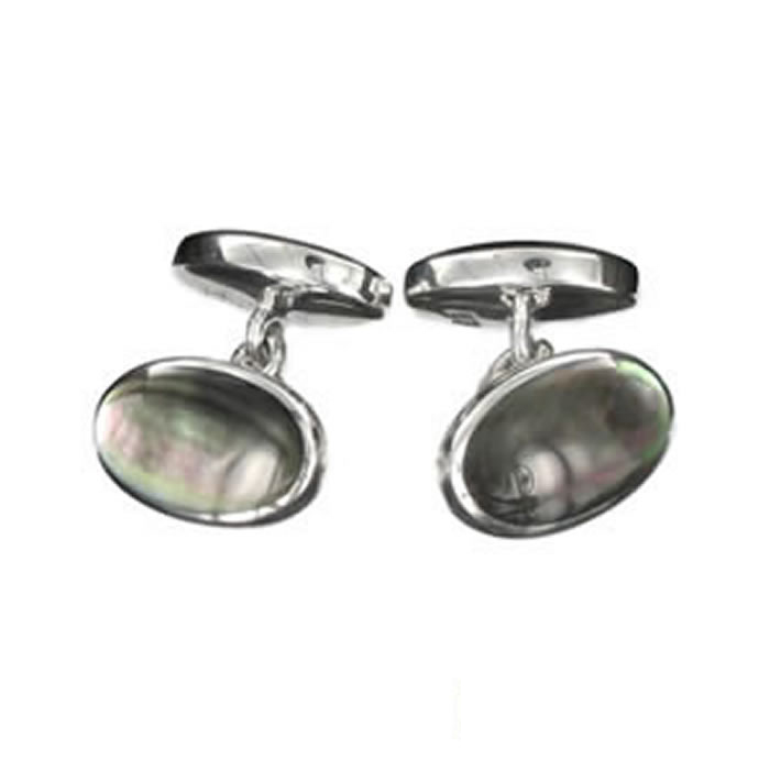Sterling Silver Black Pearl Cufflinks