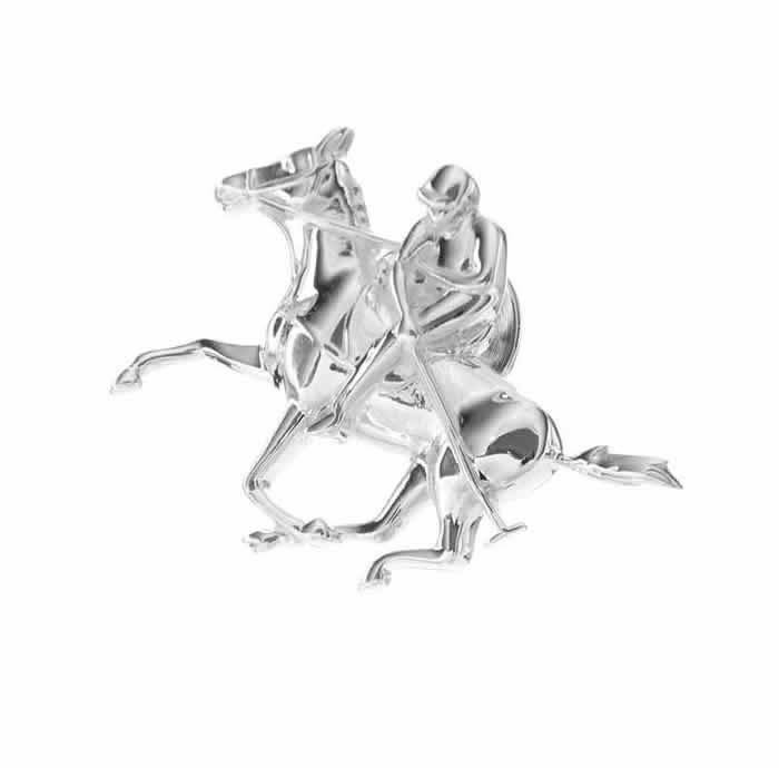 Sterling Silver Polo Horse Pin