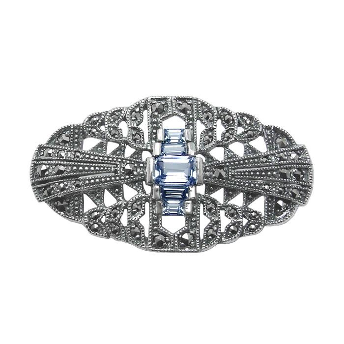 Sterling Silver Art Nouveau Style Brooch