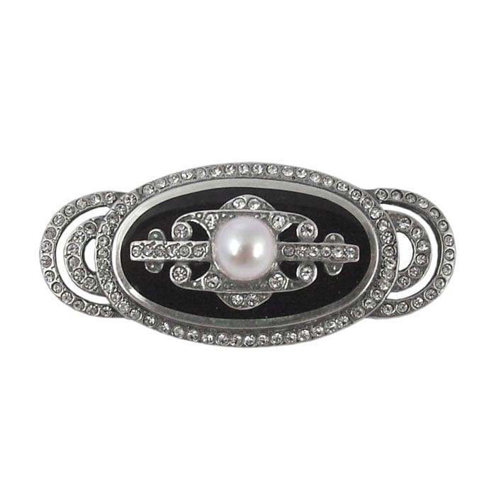 Sterling Silver Ornate Marcasite Brooch