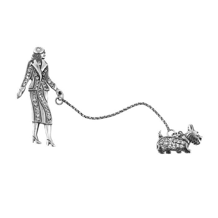 Sterling Silver Scottish Terrier Brooch