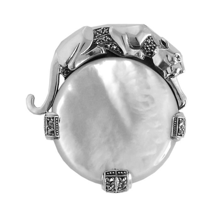 Sterling Silver And Mother Of Pearl Windsor Collection Brooch