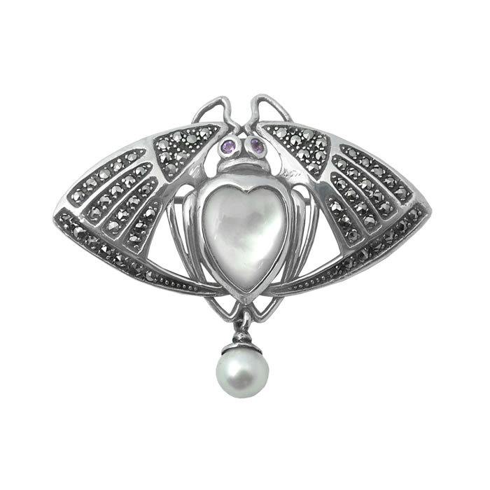 Sterling Silver Art Nouveau Style Fly Brooch