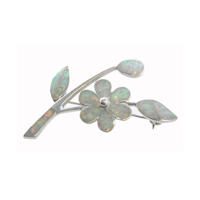 Sterling Silver Art Nouveau Style Flower Brooch