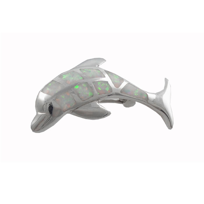 Sterling Silver Dolphin Brooch
