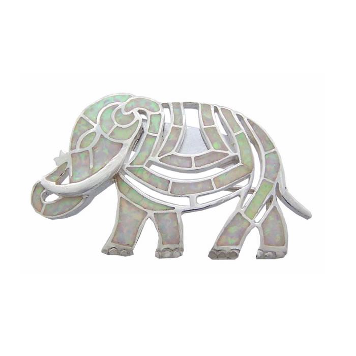 Sterling Silver Art Nouveau Elephant Brooch