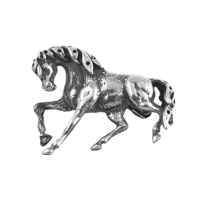 Sterling Silver Horse Brooch