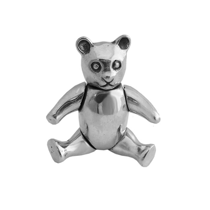 Sterling Silver Teddy Bear Brooch