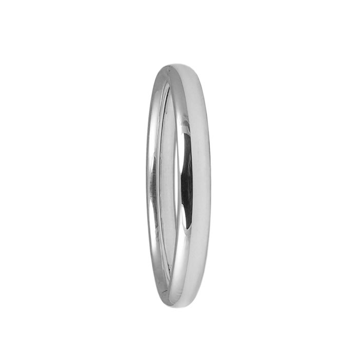 Sterling Silver Plain Styled Bangle