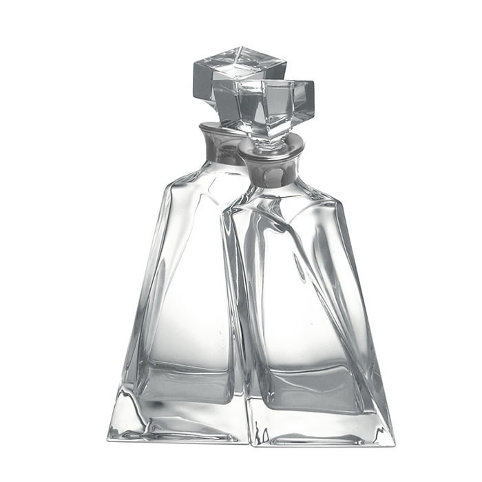 Crystal Twisted Lovers Twin Decanter Set