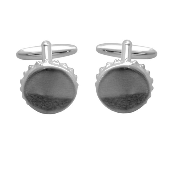 Sterling Silver Bottle Top Cufflinks