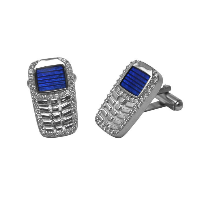 Sterling Silver Mobile Phone Cufflinks
