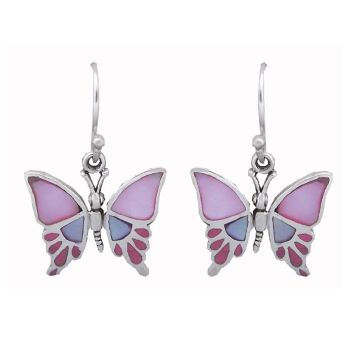 ce0d5a828 Sterling Silver Enamel Multi Coloured Butterfly Earrings. SKU: ARID_EA600.  £70.00