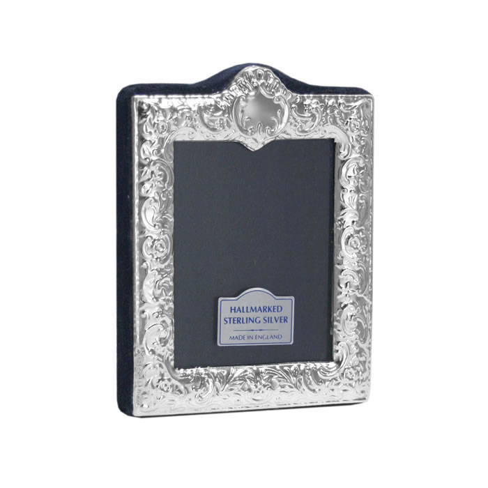 Sterling Silver Victorian Scroll 5x4cm Photo Frame