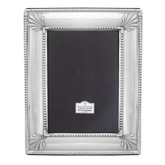 sterling silver 6x4 inch art deco style photo frame. Black Bedroom Furniture Sets. Home Design Ideas
