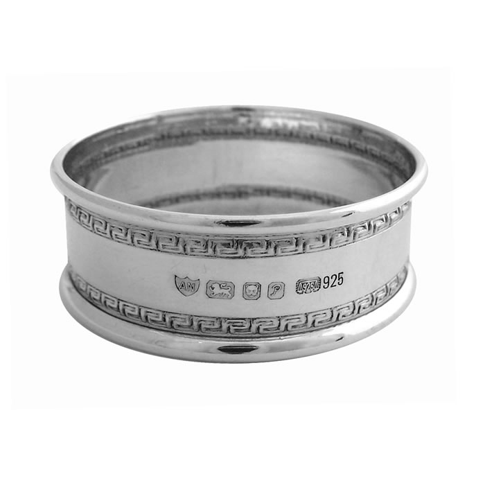 Sterling Silver Feature Hallmark Napkin Ring