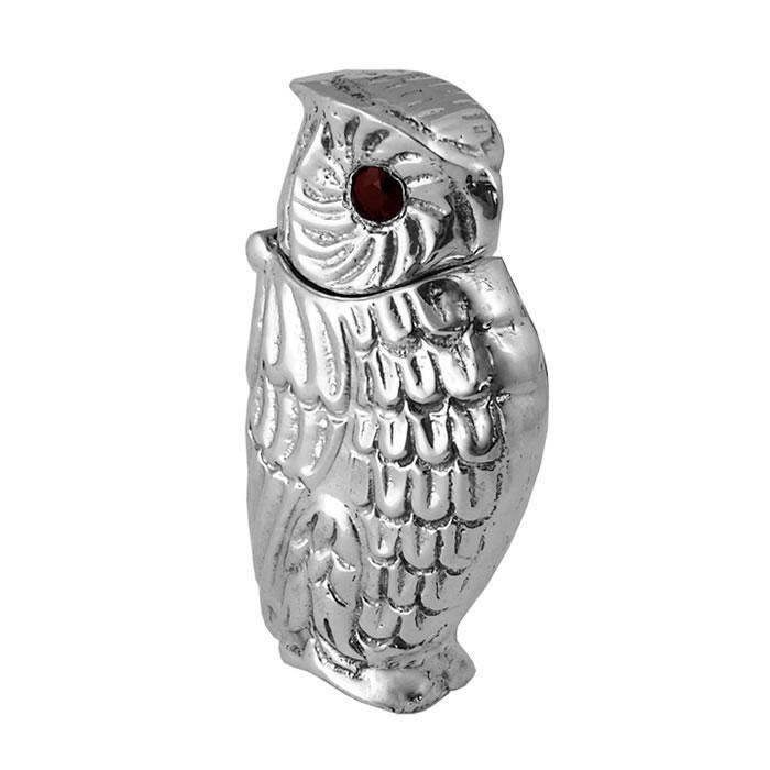 Sterling Silver Owl Matchstick Holder