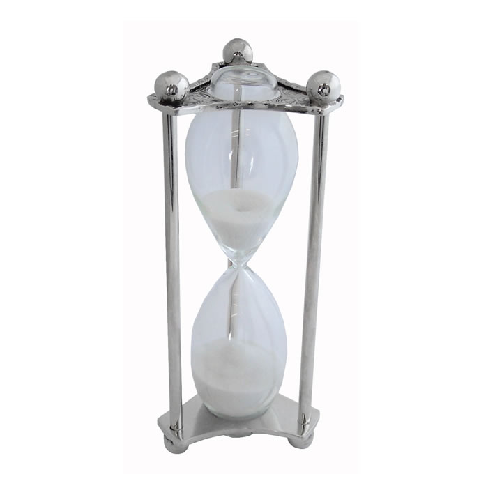Sterling Silver 3 Minute Sand Timer