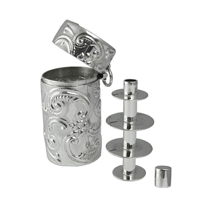 Sterling Silver Victorian Style Sewing Set