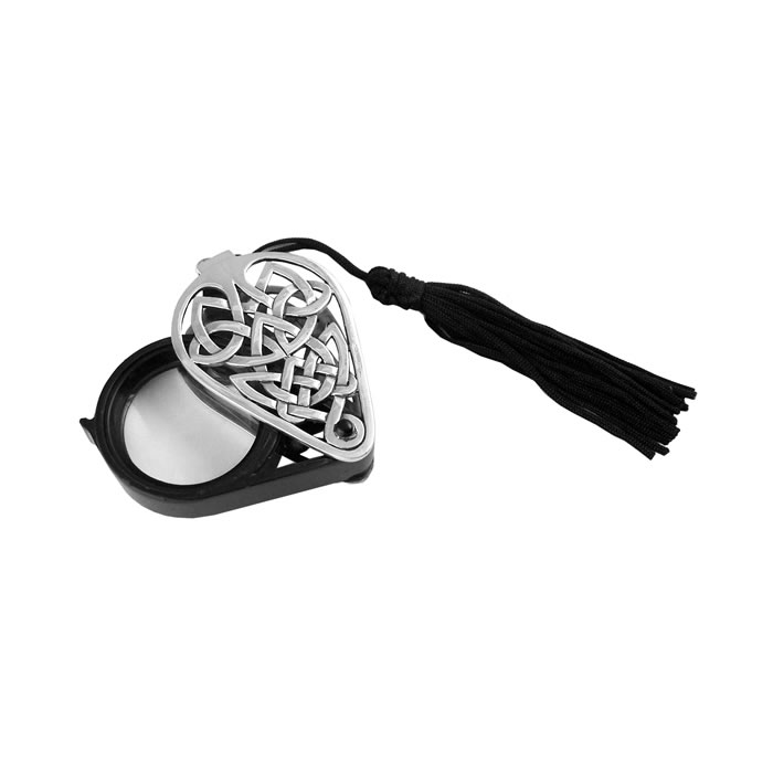 Sterling Silver Folding Magnifying Glass With Tassel