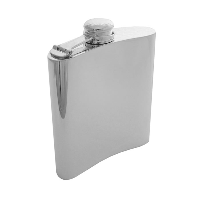 Sterling Silver Hip Flask Classic 17cl