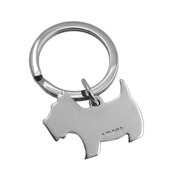 Sterling Silver Scotty Dog Keyring