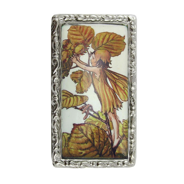 Sterling Silver Autum Fairy Picture Pill Box
